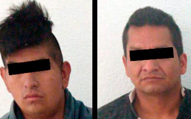 Detienen en flagrancia a dos asaltantes de transporte público en Edomex - Asaltantes de transporte público en Atizapán. Foto de @SS_Edomex