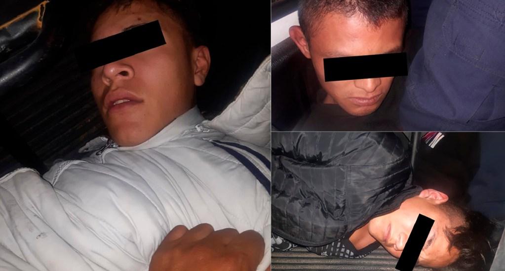 Aprehenden en Edomex a tres presuntos asaltantes del transporte público - Asaltantes del transporte público en Naucalpan. Foto Especial