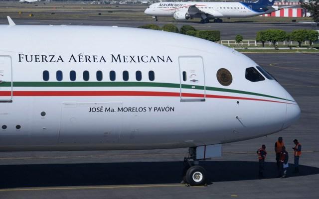 A finales de mes regresará avión presencial: AMLO - El avión presidencial TP-01 o José María Morelos y Pavón