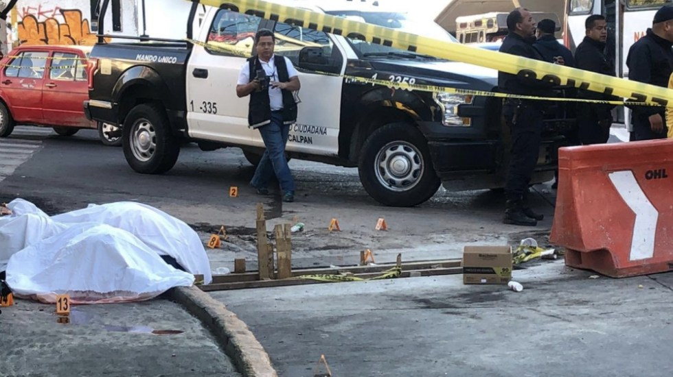 Balacera en Naucalpan deja dos muertos - Foto de @Chilangoreport