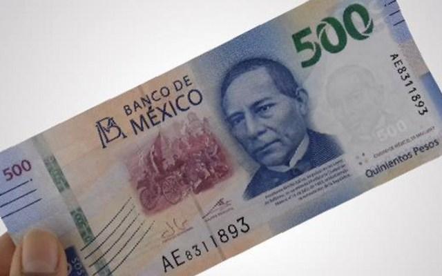 Empresarios piden certidumbre ante contracción de la economía mexicana - Billete de 500 pesos, dinero, economía