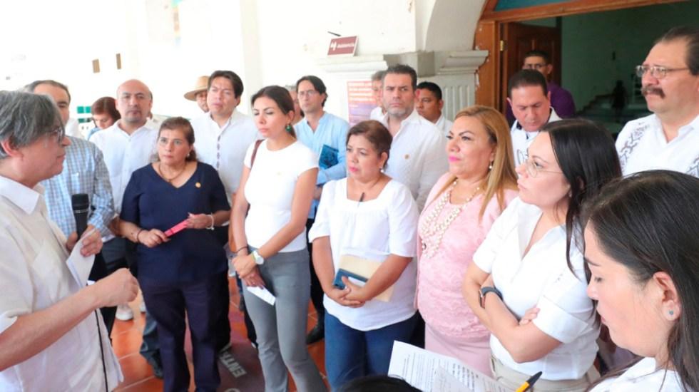Diputados buscarán agilizar trámites de admisión de migrantes en Tapachula - Diputados en Tapachula. Foto de @Mx_Diputados