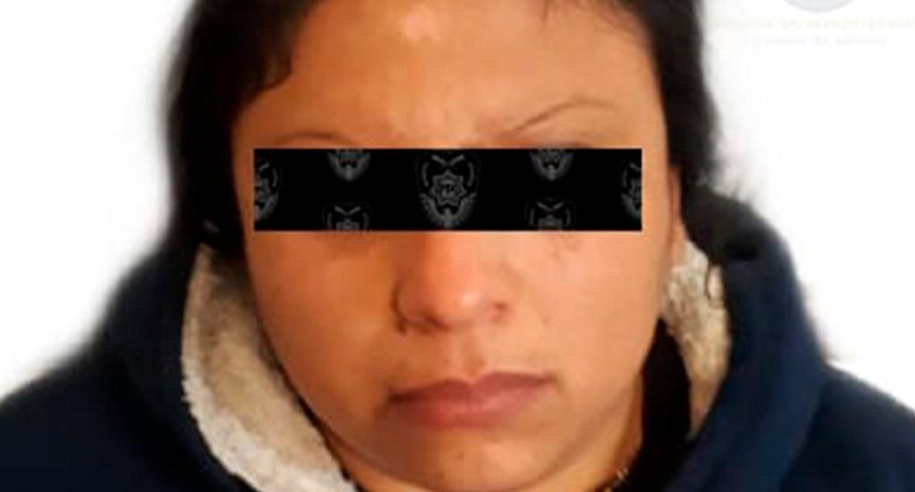 Detienen en la GAM a mujer por supuestamente prostituir a su hija - Dulce N., detenida por explotación sexual. Foto de @PDI_FGJCDMX