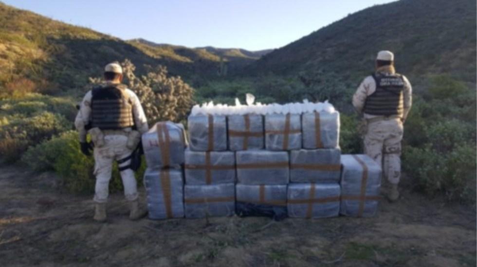 """""""Amor y paz, suave, suave, suave"""", pidió AMLO a Ebrard contestar a dichos de Trump sobre labor en narcotráfico - Ensenada Baja California drogas decomiso Ejército"""