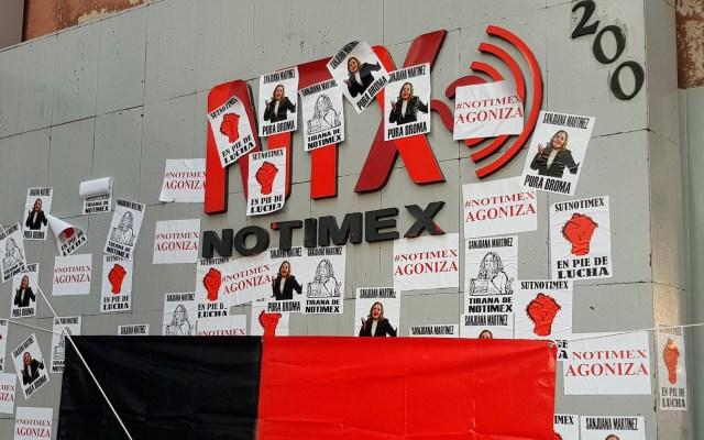 Notimex no quiere establecer un diálogo pero sí romper la huelga, denuncia Sindicato - Huelga en Notimex. Foto de @sutnotimex