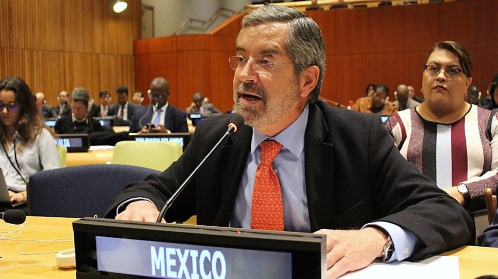Robustecer al Consejo de Seguridad de la ONU es hacerlo más inclusivo, asegura Juan Ramón de la Fuente - El Emb. Juan Ramón de la Fuente durante su intervención. Foto de @MexOnu