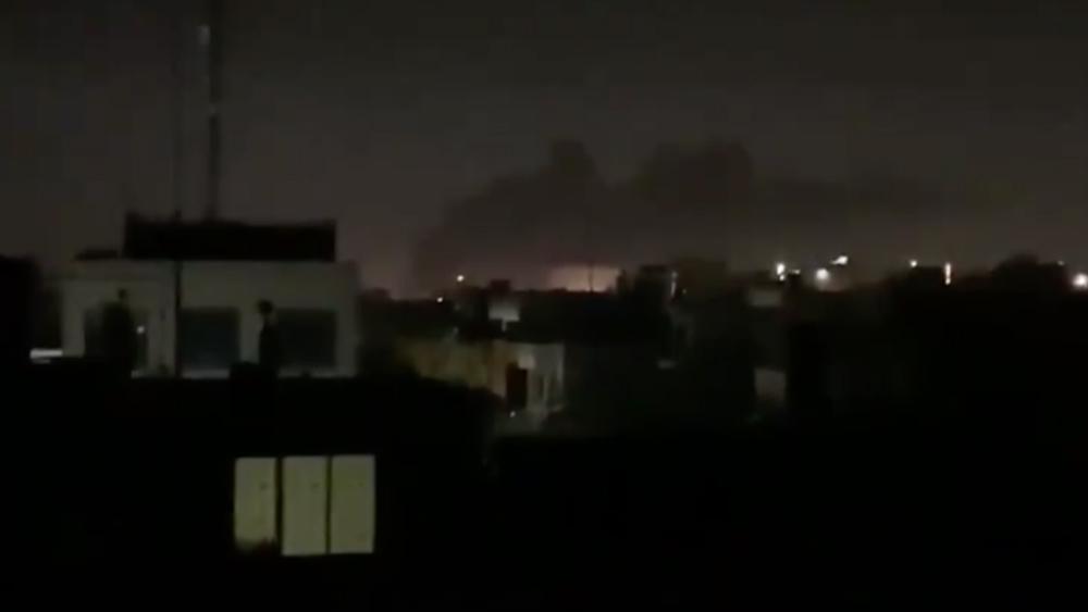 Reportan impacto de misiles cerca de la embajada de EE.UU. en Irak - Foto de @MOOFTSH
