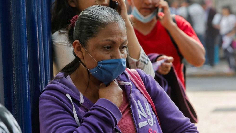 Adoptan en Guanajuato medidas preventivas contra el COVID-19 - Mujer con cubrebocas como medida preventiva contra el coronavirus. Foto de Notimex