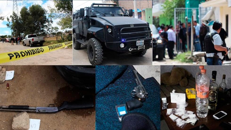 Enfrentamiento entre policías y civiles armados deja tres detenidos en Zapopan - Operativo en la colonia Palmira tras ataque a policías. Foto de @FiscaliaJal