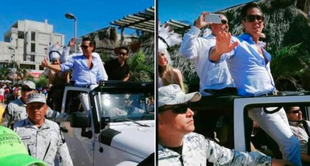 GN sancionará a responsable de autorizar escolta a Roberto Palazuelos - La Guardia Nacional señaló que se aplicará la sanción correspondiente contra quien autorizó que se escoltara al actor Roberto Palazuelos