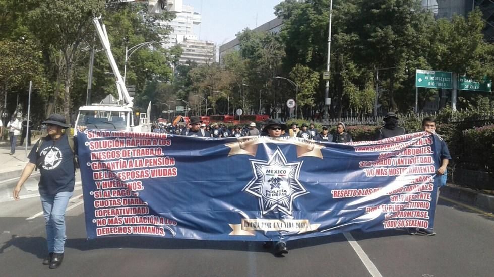 Policías Federales terminan protesta pero alistan movilizaciones para el viernes - Foto de ForoTV