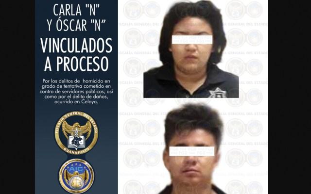 Imputan a dos policías municipales que agredieron a estatales en Celaya - Foto de Fiscalía de Guanajuato