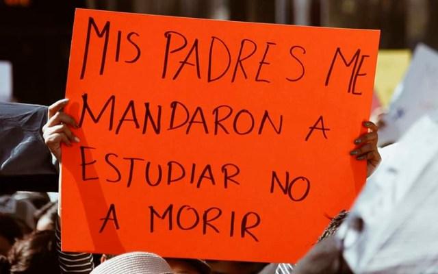 BUAP y UPAEP se van a paro por homicidio de estudiantes - Protesta contra asesinato de estudiantes en Puebla. Foto de @karenaherreraa