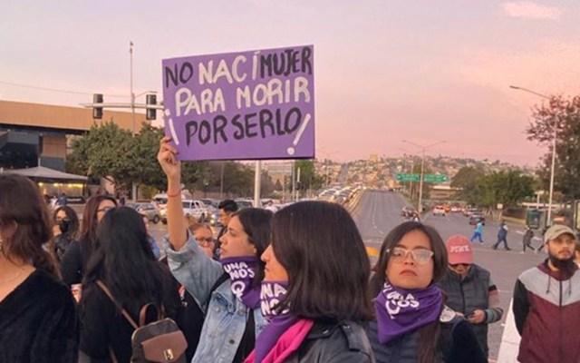 Solicitan Alerta de Violencia de Género para Baja California - Protesta contra la violencia de género en Baja California. Foto de @CEDHBC