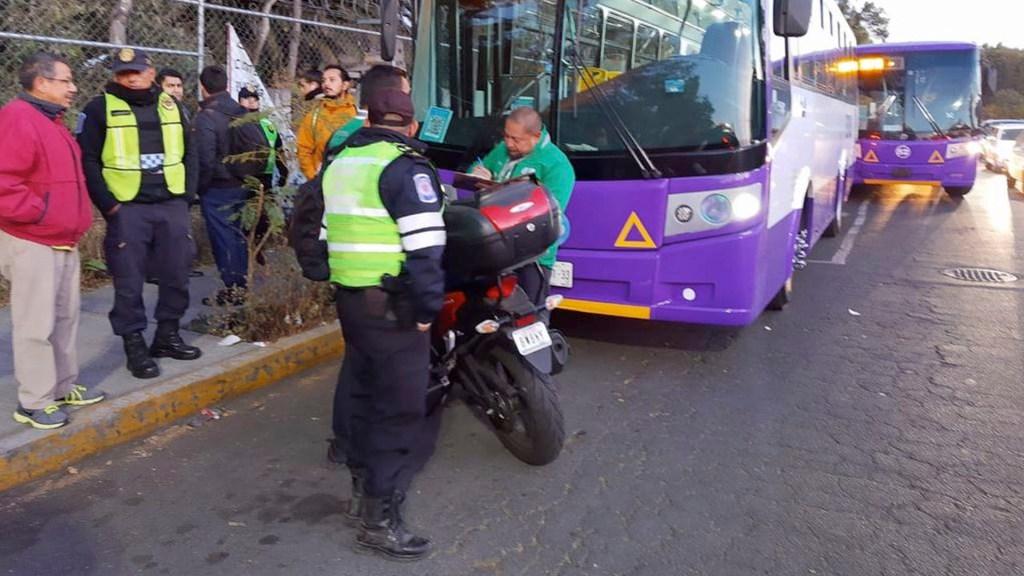 Realizan operativo contra servicios de transporte irregular en Tlalpan - Realizan operativo contra servicios de transporte irregular en Tlalpan