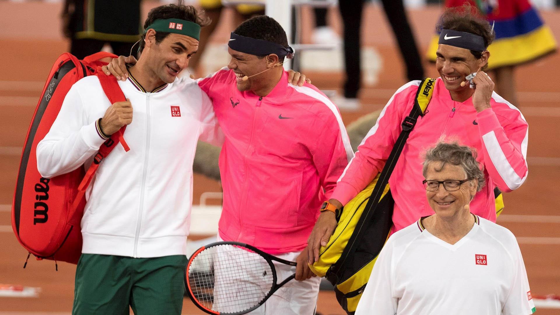 Roger Federer y Rafael Nadal partido África Bill Gates