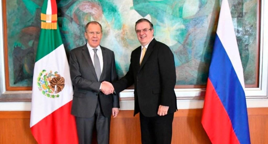 México y Rusia celebran 130 años de relación bilateral con impulso a sus economías - Serguéi Lavrov y Marcelo Ebrard. Foto de @SRE_mx