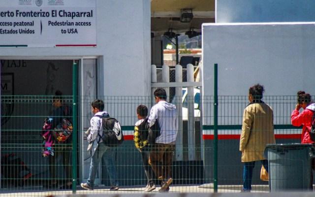UE aporta casi 100 mdp para plan de refugiados en el norte de México - Solicitantes asilo México Estados Unidos frontera