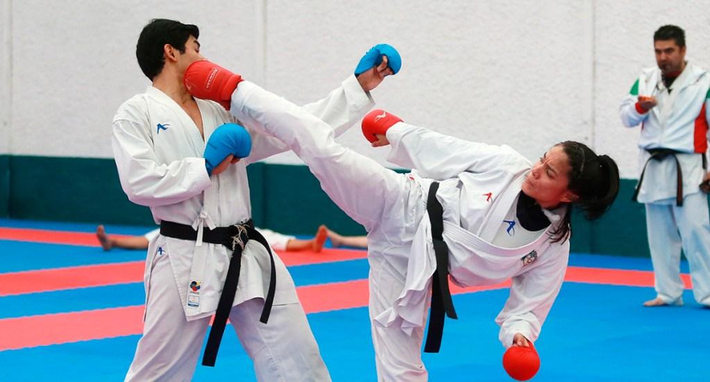 Ana Guevara garantiza apoyo para atletas que van a Tokio 2020 - Taekwondoínes mexicanos. Foto de @CONADE
