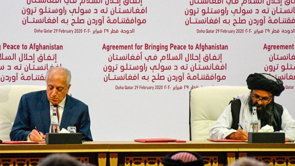 Talibanes y EE.UU. firman histórico acuerdo de paz en Doha - Talibanes y EE.UU. firman histórico acuerdo de paz en Doha