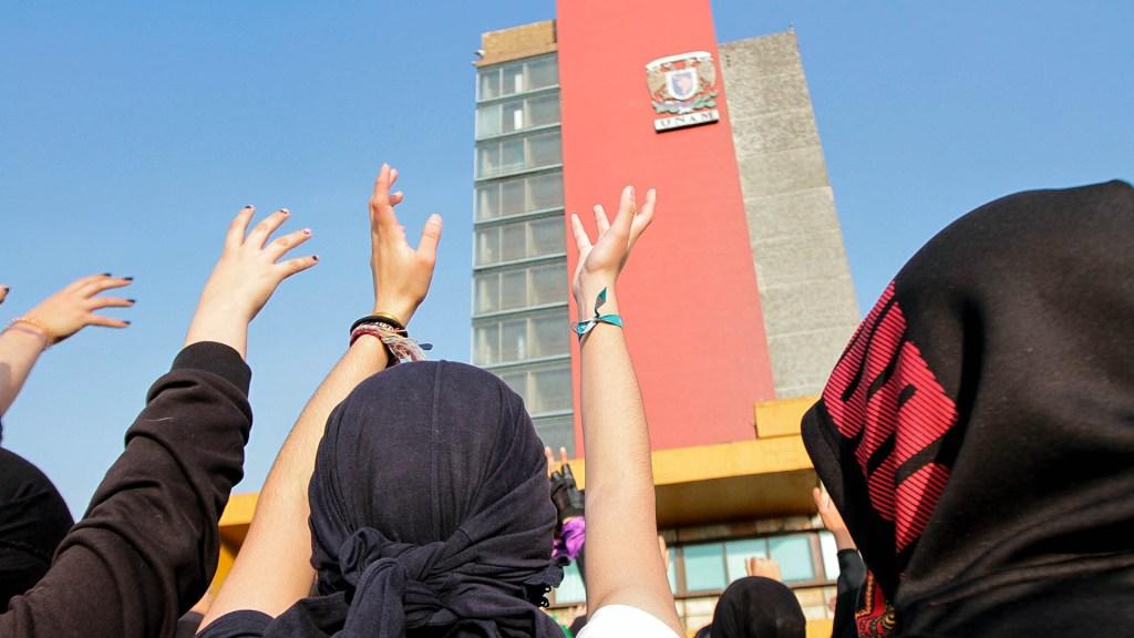 Están siendo atendidas todas las demandas de las estudiantes, asegura Graue - UNAM estudiantes manifestación