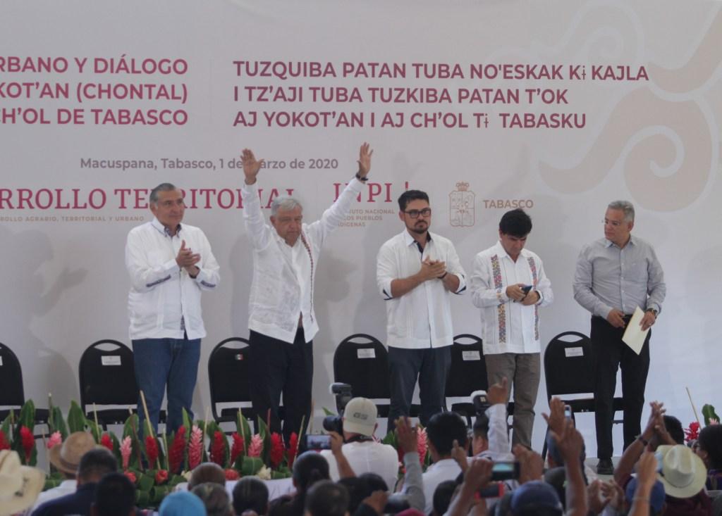 'La mentira es del demonio, es reaccionaria y conservadora'; AMLO molesto ante reclamos en Tabasco - Foto de Notimex.