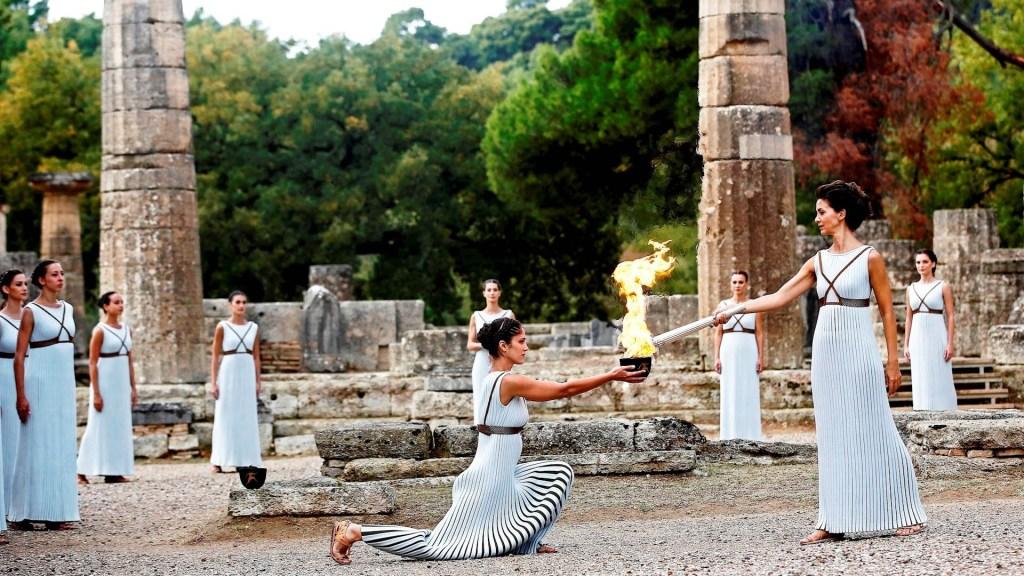 Encendido de la antorcha olímpica será a puerta cerrada por coronavirus - Antorcha Olímpica Grecia encendido