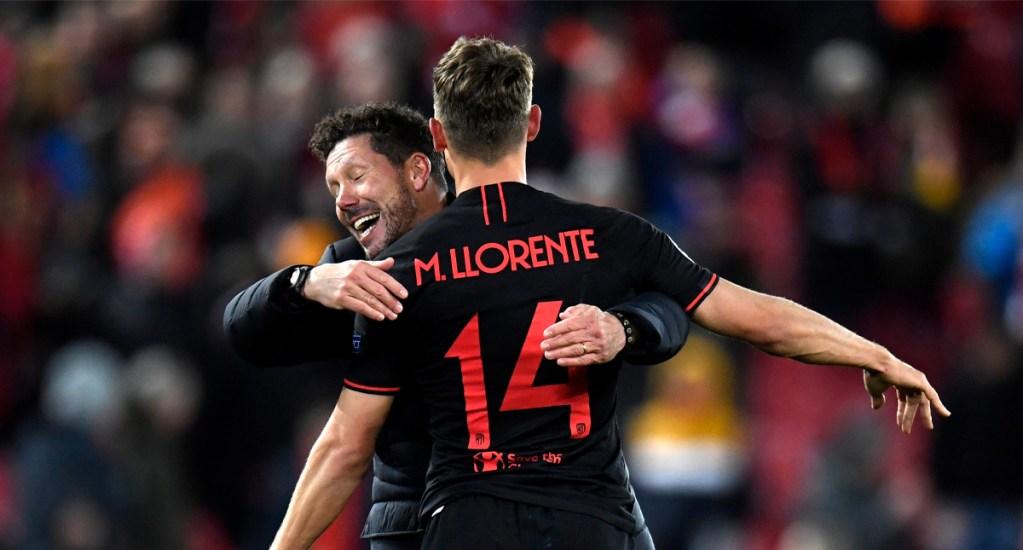 Atlético de Madrid elimina al Liverpool de la Champions - Liverpool se adelantó con los tantos de Georginio Wijnaldum y Roberto Firmino, pero Marcos Llorente con un doblete, y uno más de Álvaro Morata, le dieron el pase al Atlético