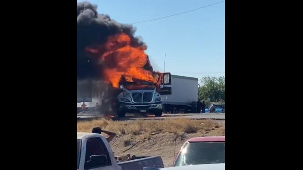 Campesinos vandalizan vehículos por extracción de agua de presa en Chihuahua - Chihuahua Conagua manifestación