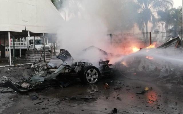 Explota coche-bomba en Celaya, Guanajuato - Foto de Noticieros Televisa