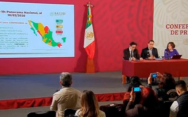 Se mantiene en 7 el número de casos de COVID-19 en México - Conferencia sobre el COVID-19 en México, 10 de marzo. Captura de pantalla