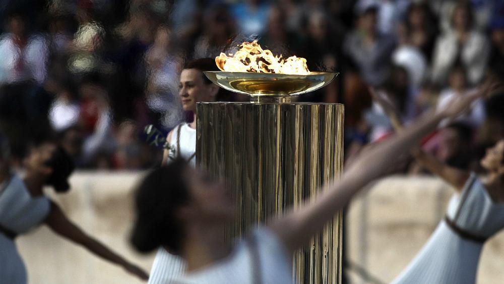 Llama olímpica ya alumbra el camino a los Juegos Olímpicos de Tokio 2020 - Foto de EFE