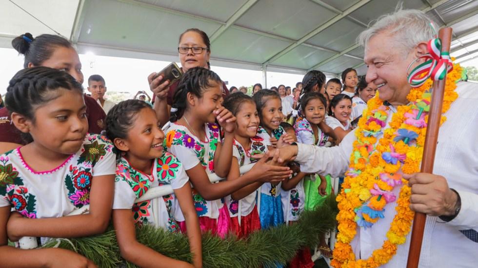 Restringirán asistencia de público en eventos de AMLO por COVID-19 - López Obrador en Ayutla de los Libres, Guerrero. Foto de Notimex
