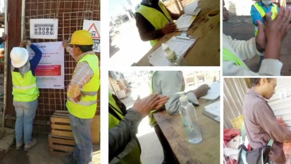 Presentan en la capital los lineamientos para continuar obras ante COVID-19 - Medidas de prevención ante el COVID-19 en obras. Foto de Sobse CDMX