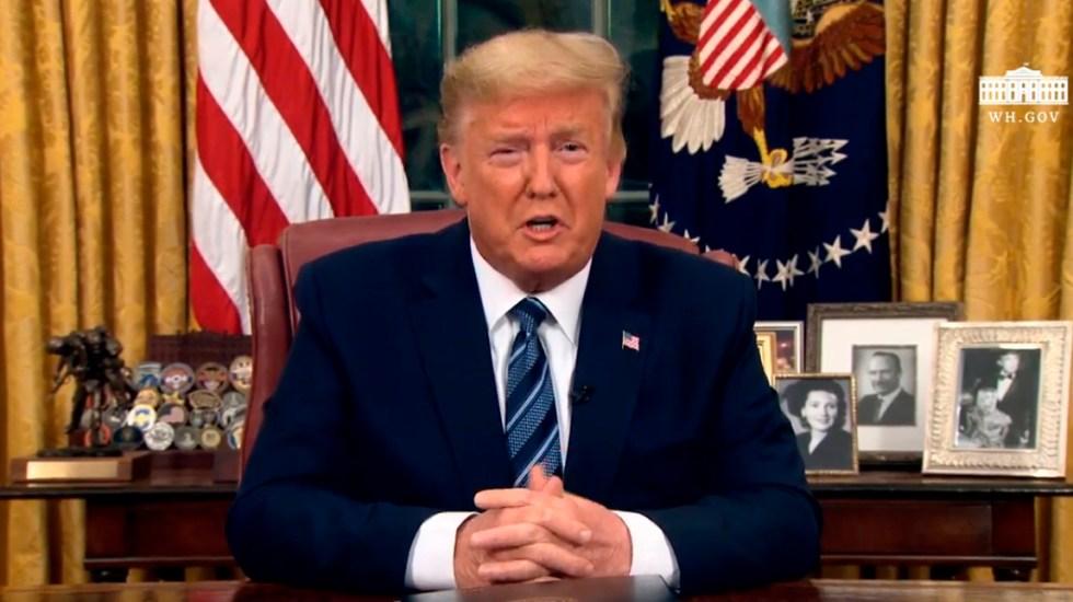 Trump suspende vuelos de Europa a Estados Unidos por 30 días - Captura de pantalla