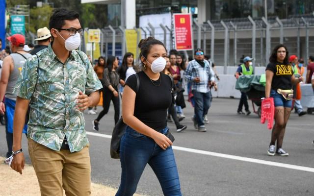 Ante COVID-19, Segob recomienda suspender actividades que involucren congregaciones - Medidas de prevención contra la pandemia del COVID-19 durante el segundo día del Festival Vive Latino. Foto de Notimex-Karen Melo.