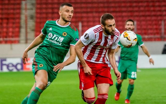 Wolves se encarrila a los cuartos de final de la Liga Europea - Olympiacos Piraeus vs Wolverhampton Wanderers. Foto de EFE