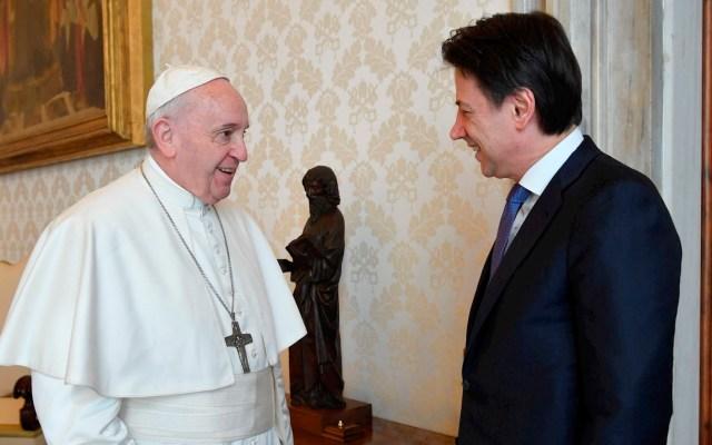 El papa Francisco recibe a Giuseppe Conte en plena crisis por COVID-19 - Papa Francisco Conte covid-19 coronavirus