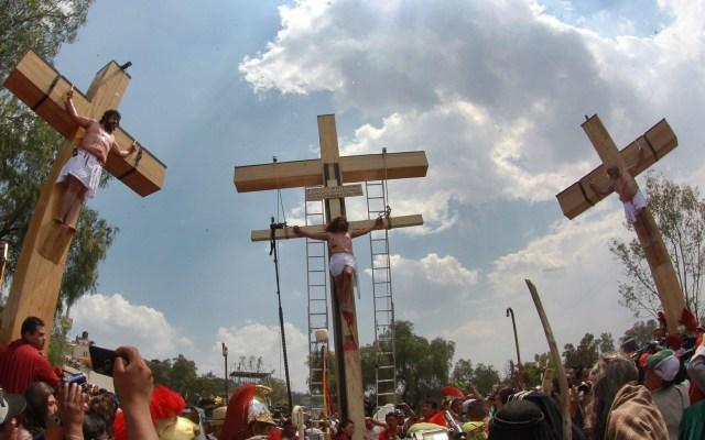 Viacrucis de Semana Santa en Iztapalapa será a puerta cerrada - Representación de la Pasión de Cristo en Iztapalapa. Foto de Notimex.