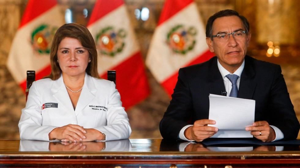 Presidente Martín Vizcarra anuncia el primer caso de COVID-19 en Perú - El primer caso es un hombre de 25 años, que se encuentra estable, y que viajó recientemente a España, Francia y República Checa