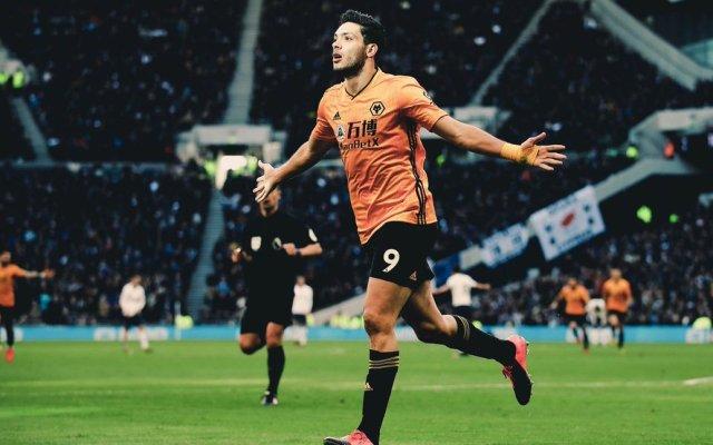 #Video Gol de Raúl Jiménez en voltereta de Wolves a Tottenham - Raúl Jiménez celebrando el gol. Foto de Wolves.
