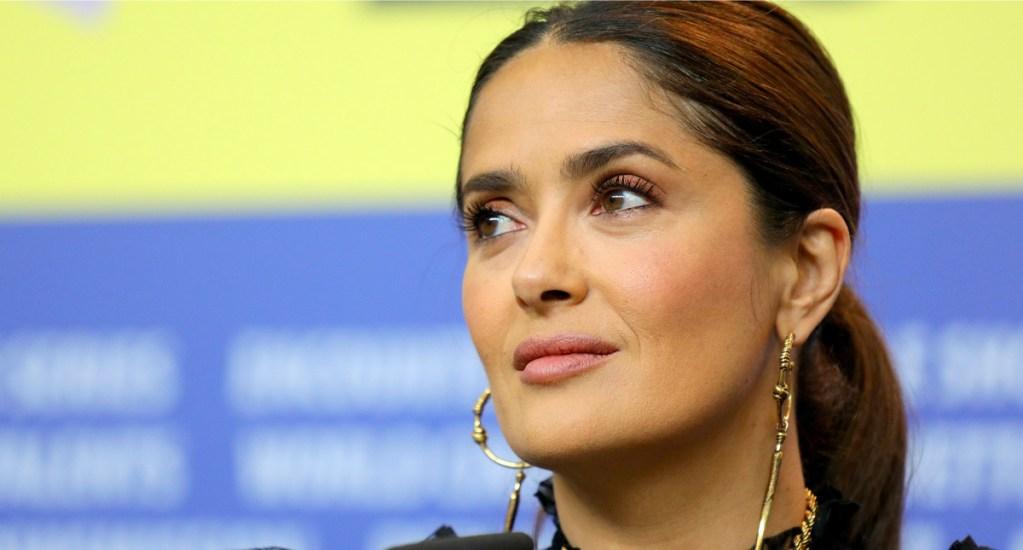 Salma Hayek apoya paro nacional de mujeres en México - La veracruzana dio el domingo una charla en Londres, donde lanzó un mensaje de apoyo al paro nacional convocado por colectivos feministas