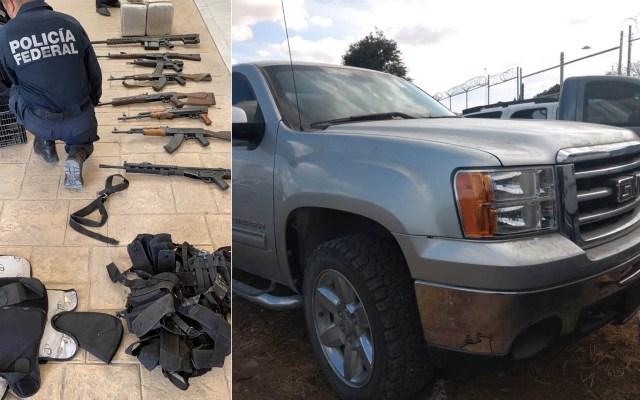 Aseguran camionetas con armamento y drogas en Tamaulipas - Tamaulipas camionetas armas drogas2