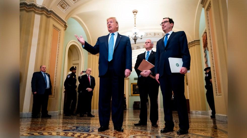 Trump responderá crisis de COVID-19 con plan de estímulo económico - El presidente estadounidense se reunió con senadores republicanos para coordinar un plan de estímulo económico en respuesta al coronavirus