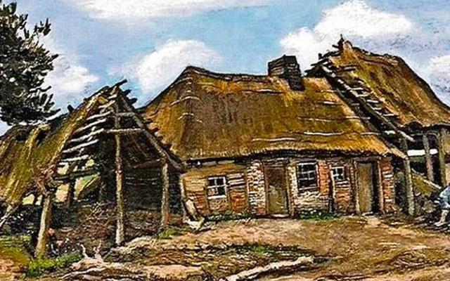 """Exhiben un Van Gogh comprado en 4 euros - Un comerciante de arte compró por 4 euros el lienzo """"Mujer campesina frente a una granja"""" durante una subasta en Inglaterra, en 1960"""