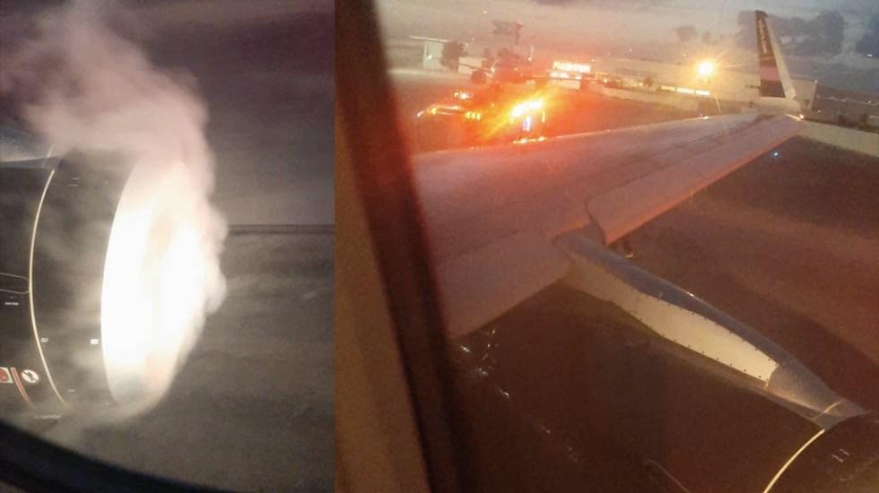 Desvían avión a Cancún tras presentar fuego en el motor izquierdo - Vuelo Volaris fuego motor