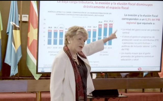 Por COVID-19, Cepal estima contracción de la economía mexicana en 6.6 por ciento para 2020 - Alicia Bárcena, de CEPAL. Captura de pantalla.