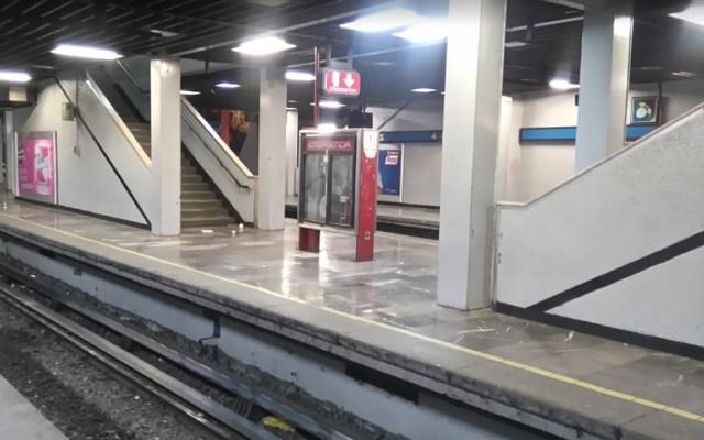 Dos personas mueren arrolladas por el Metro en Chabacano e Impulsora - Andén de la estación Chabacano de la Línea 2 del Metro. Foto de Google Maps / Santiago Ignacio Waldemar Troncozo