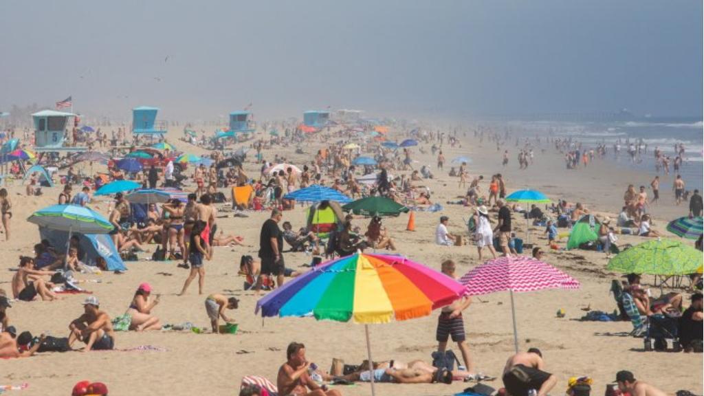 California cierra playas nuevamente ante aumento de contagios de COVID-19 en EE.UU. - California playas COVID-19 coronavirus 3