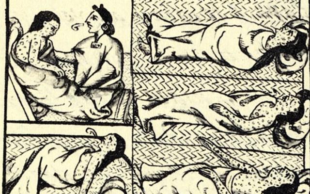 Las epidemias que azotaron a México desde la antigüedad - Códice florentino sobre brote de viruela a indígenas.  Foto de Wikimedia Commons